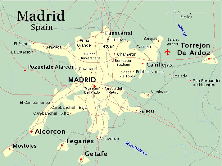 Harta Madrid Harta
